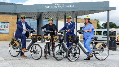 Forth Valley Royal Hospital:  Public health minister Joe FitzPatrick launched the project.