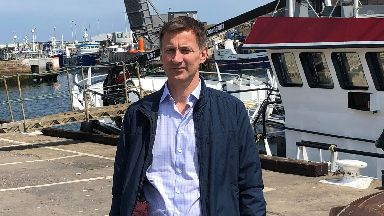 Jeremy Hunt: He was on a visit to Peterhead.