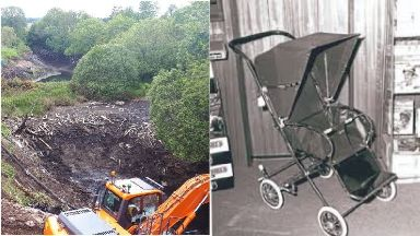 Hunt: Quarry search and pram appeal.