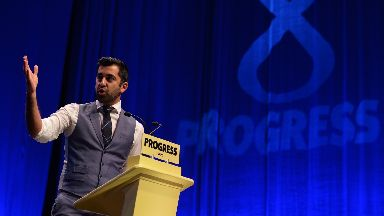 Police: Humza Yousaf gave evidence to Holyrood's Justice Committee.