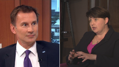 Ruth Davidson: Jeremy Hunt is 'putting the Union first'.