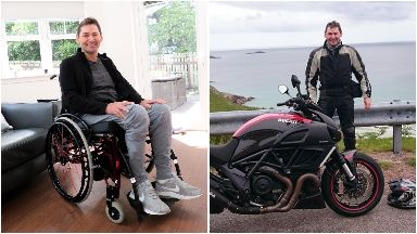 Outlook: Stuart says there is life after a spinal injury.