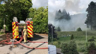 Dundee: Strathmartine Hospital has gone up in flames.
