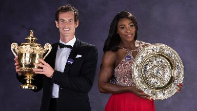 Dream team: Murray and Williams both won singles in 2016.