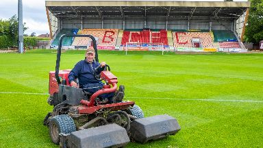 Neil Wood spent six hours designing the pitch.