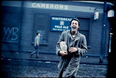 Paul McCartney photographed in Glasgow in 1970.