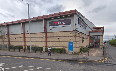 Damaged: Sports centre targeted by vandals.