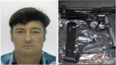 Robert Lockhart: Caught with guns.