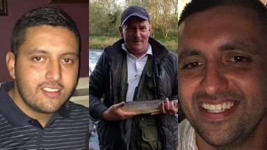 Murdered: Mr McGuire (Centre) was attacked by Ahmed brothers.