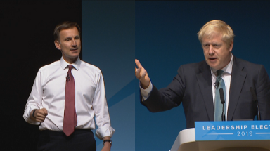 Hustings: Both candidates vow to defend union.