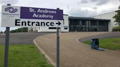 St Andrew's Academy: The headteacher paid tribute.
