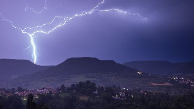 Lightning: Thunderstorms are expected this week.