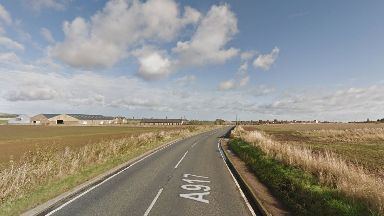 Fife: The cyclist was found with injuries on the A917.