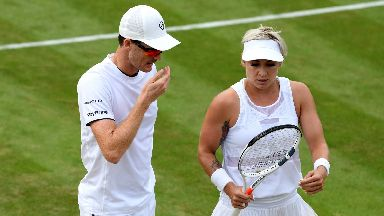 Murray and Mattek-Sands are out of the mixed doubles.