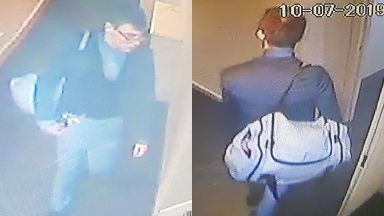 CCTV: Mr Fleming was last seen carrying a sports bag.