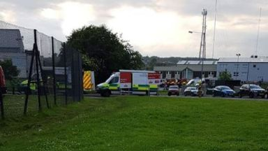 Aberdeen: Four Royal Mail workers were taken to hospital.