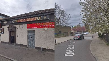 Glasgow: The trio were knocked down after leaving the Pig 'n' Whistle pub.