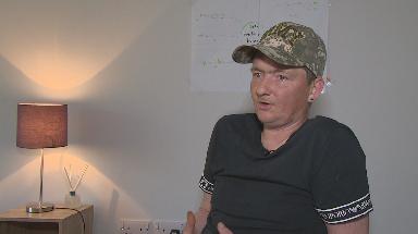 Addiction: Andrew Thomson, now 42, has overdosed three times.