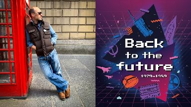 Back to the future: Graeme Hawley in his best Marty McFly outfit.