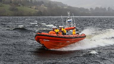 Warning: Loch Ness RNLI have warned against 'storming' the waters.