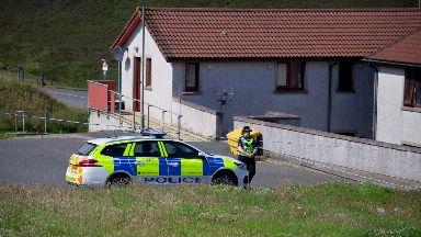 Death: The house has been cordoned off.