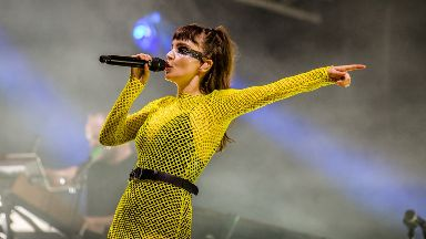 Chvrches: The synth-pop band headlined the Garden Stage on Friday night.