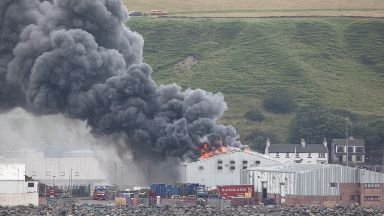 Blaze: Scrabster Seafood plant was damaged in the fire.