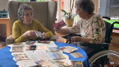 Residents: The postscards are a conversation starter.