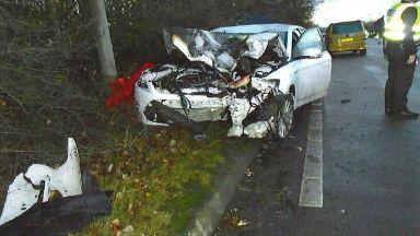 East Kilbride: A motorcyclist died.