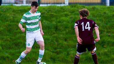 Kieran Tierney attracted attention soon after signing for Celtic as a boy.