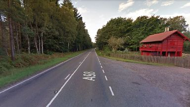 Crash: The incident happened near Swiss Cottage on the A98.