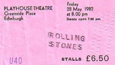 Rolling Stones tickets cost just £6.50 in 1982.