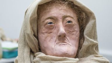 Hilda: The face of one of Scotland's oldest druids.