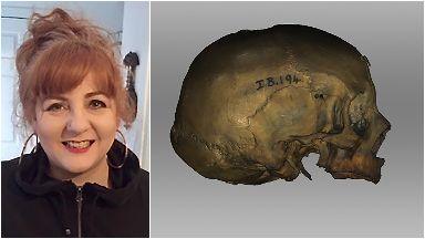 Karen Fleming recreated the face from a skull held at Edinburgh University.