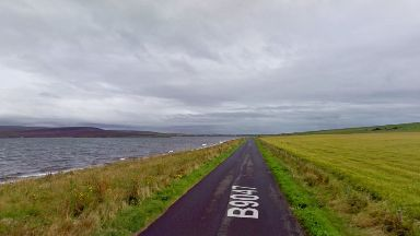 Collision: The incident happened on the island of Hoy.