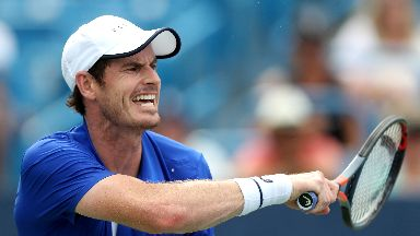 Murray lost in straight sets at the Winston-Salem Open.