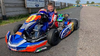 Race: His parents gave him his first go-kart.