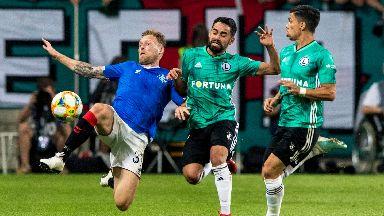 Rangers were held by Legia in Warsaw.
