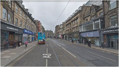 Edinburgh: The incident happened near to the Armed Forces Career premises.