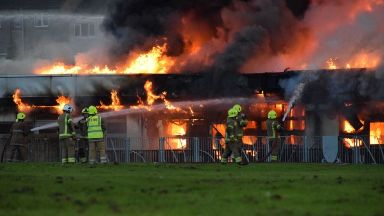 Dunfermline: Woodmill High School has gone up in flames.