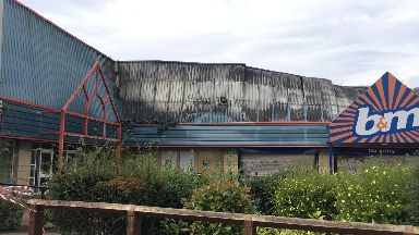 St Catherine's Retail Park: The B&M store's roof collapsed.