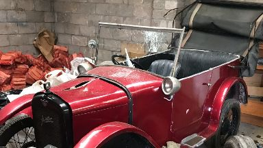 The century-old Austin 7 was vandalised.