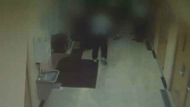 CCTV: Footage was recorded from inside the prison.