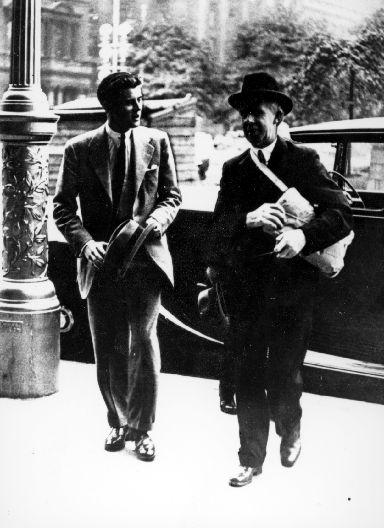 JFK meets Lord Provost Patrick Dollan in Glasgow.