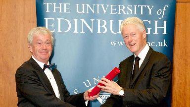 Presidential: Bill Clinton will visit Edinburgh next year.