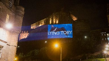 Edinburgh Castle: Landmark part of Led By Donkeys campaign.