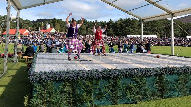 Competitions: Highland dancers performed.