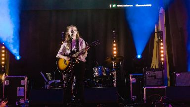 Centre stage: Singer-songwriter Kate Kyle loved the event.