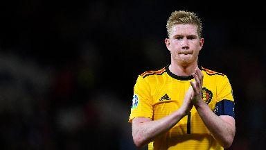 De bruyne was instrumental in Belgium's win over Scotland.