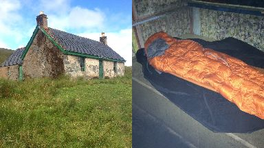 Camping: Mr Sewell stayed over in bothies on his walk.
